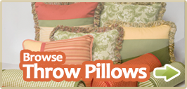 browse throw pillows